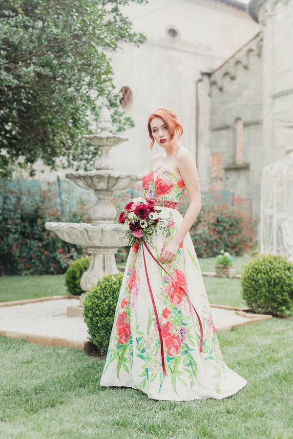 Abito da sposa floreale Milano | Marianna Lanzilli