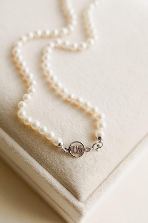 Collana di perle fermaglio oro 18 carati